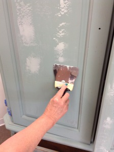 Applying Embossing Medium with a trowel