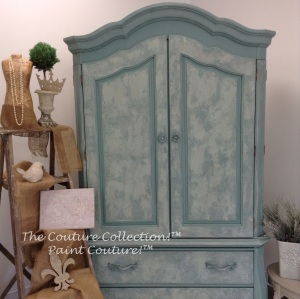 Paint Couture! Abundance with Embossing Medium and Weathered Wood Glaze Couture!