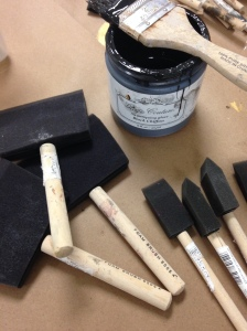 Have 2 sizes of Foam Brushes ready to remove the glaze