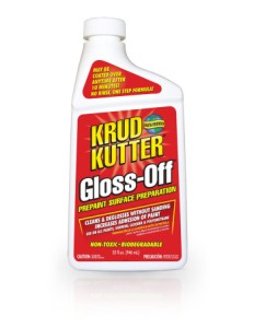 Prep your furniture first, we love Krud Kutter Gloss-Off or Simple Green