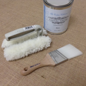 Lambs Wool Applicator and a soft brush