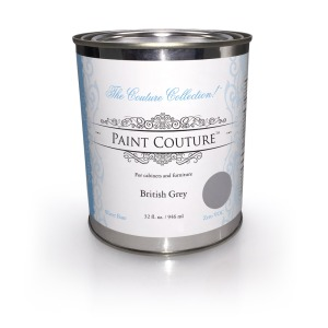 British Grey Paint Couture, acrylic furniture and cabinet paint